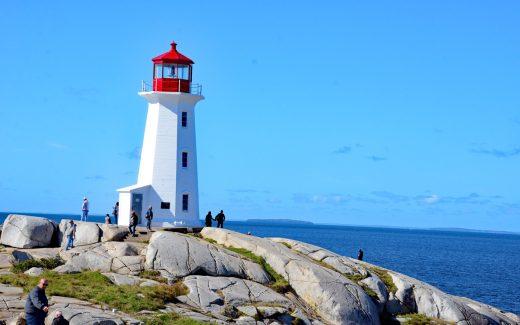 Leuchtturm von Peggy's Cove bei Halifax