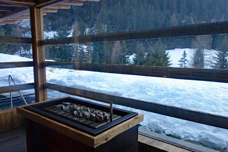 Hotel Wolkenstein Comploj finnische Sauna